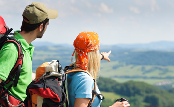 Wanderung mit Blick ins Tal