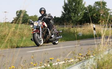 Fahrszene auf einer Motorradtour