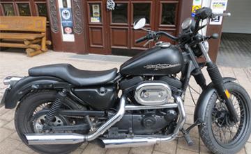 Motorradvermietung in Willingen Ansicht Harley-Davidson Sportster XL 883