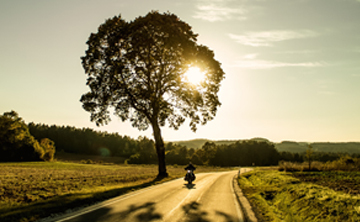 Fahrszene auf dem Motorrad