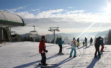 Skifahren im Skigebiet Wilingen